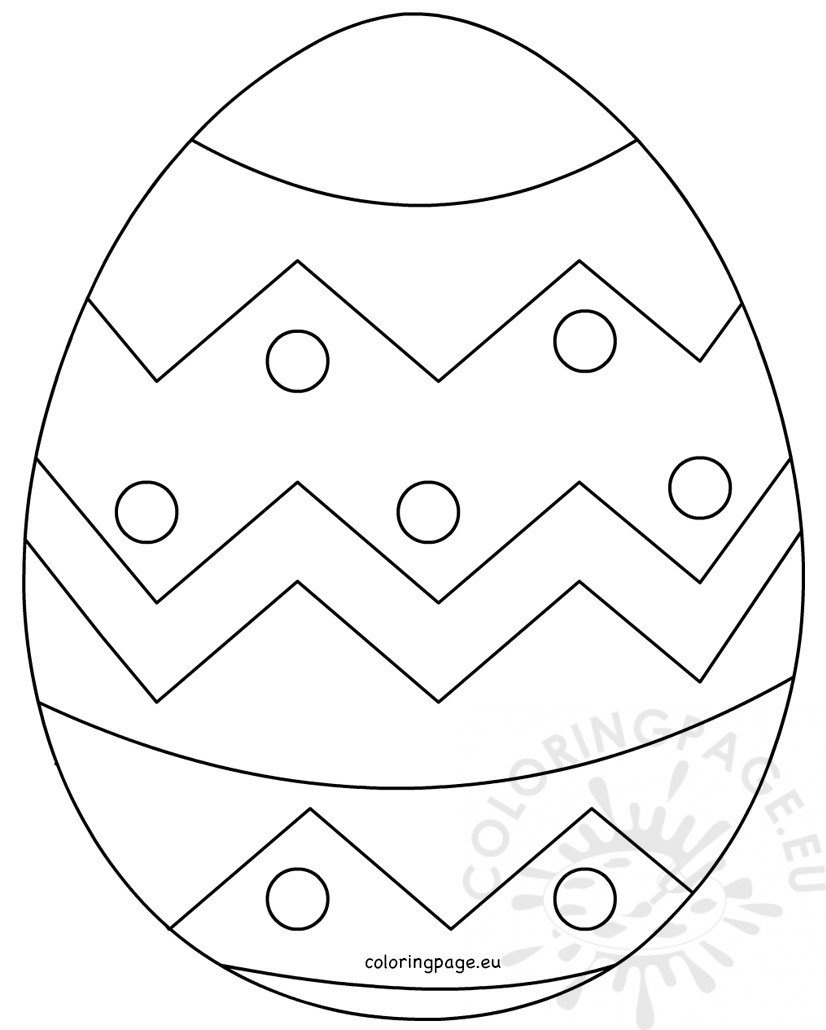 Large Easter Egg Patterns – Coloring Page - Easter Egg Template Free Printable