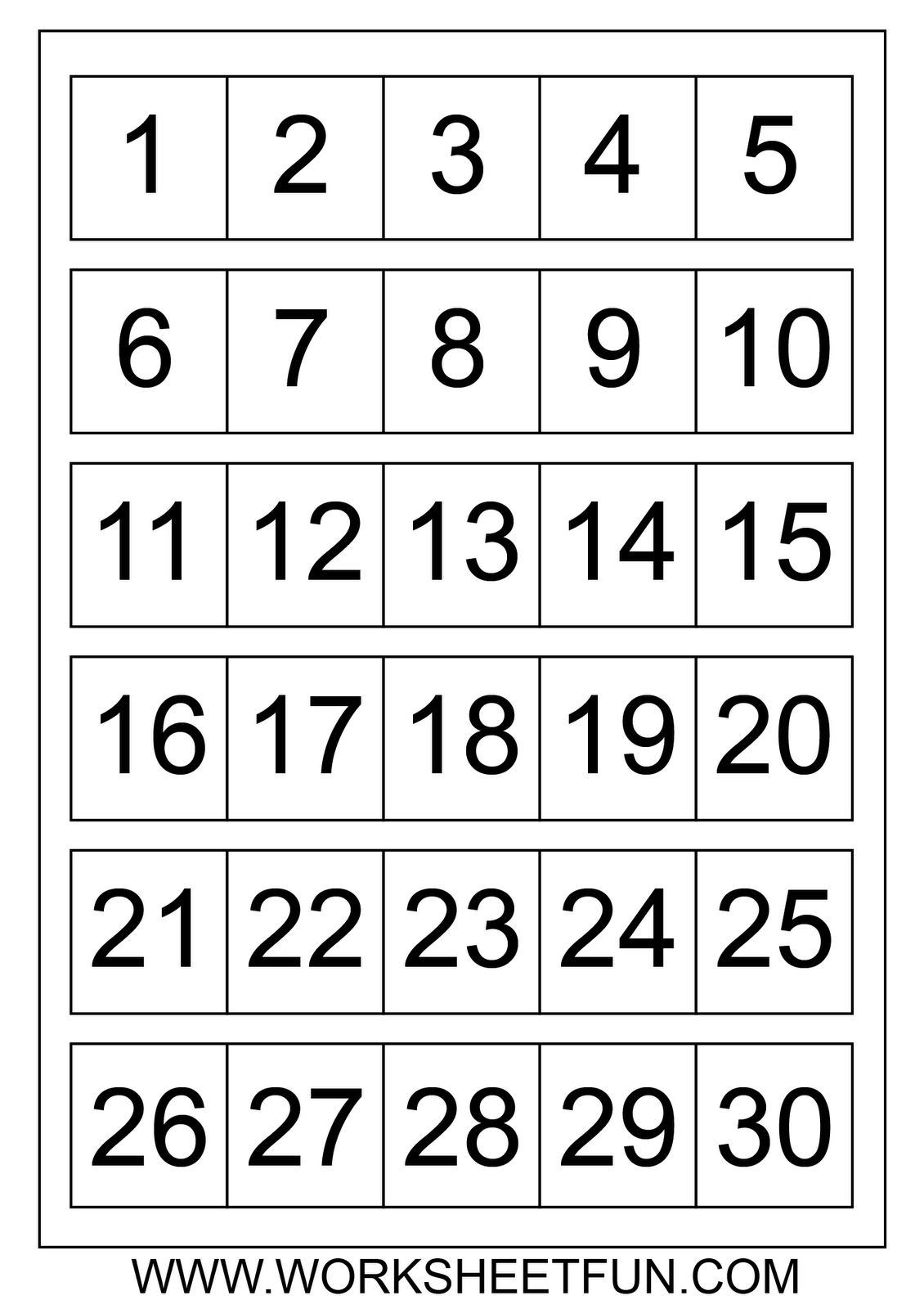 Large Printable Numbers 1 100 | To Dot With Numbers Printable - Free Printable Number Flashcards 1 30