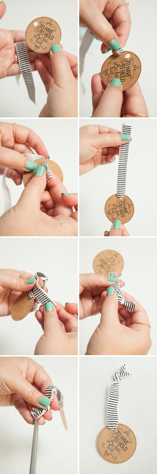 Learn How To Make Elastic Hair Tie Favors! - To Have And To Hold Your Hair Back Free Printable