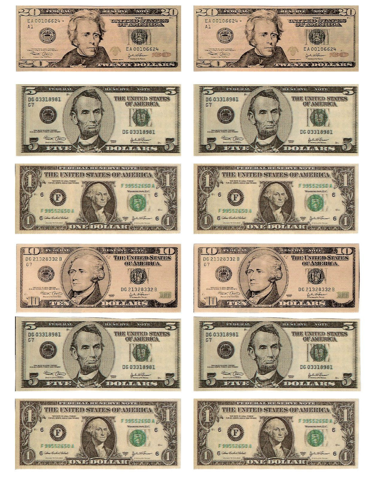Legal, Free, Printable Money For Teaching The Kids About American - Free Printable Fake Money That Looks Real