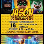 Lego Batman Party Invitation Template In 2019 | Lego Batman Party   Lego Batman Party Invitations Free Printable