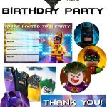 Lego Batman Thank You Cards | Lego Batman 5Th Bday | Lego Batman   Lego Batman Party Invitations Free Printable