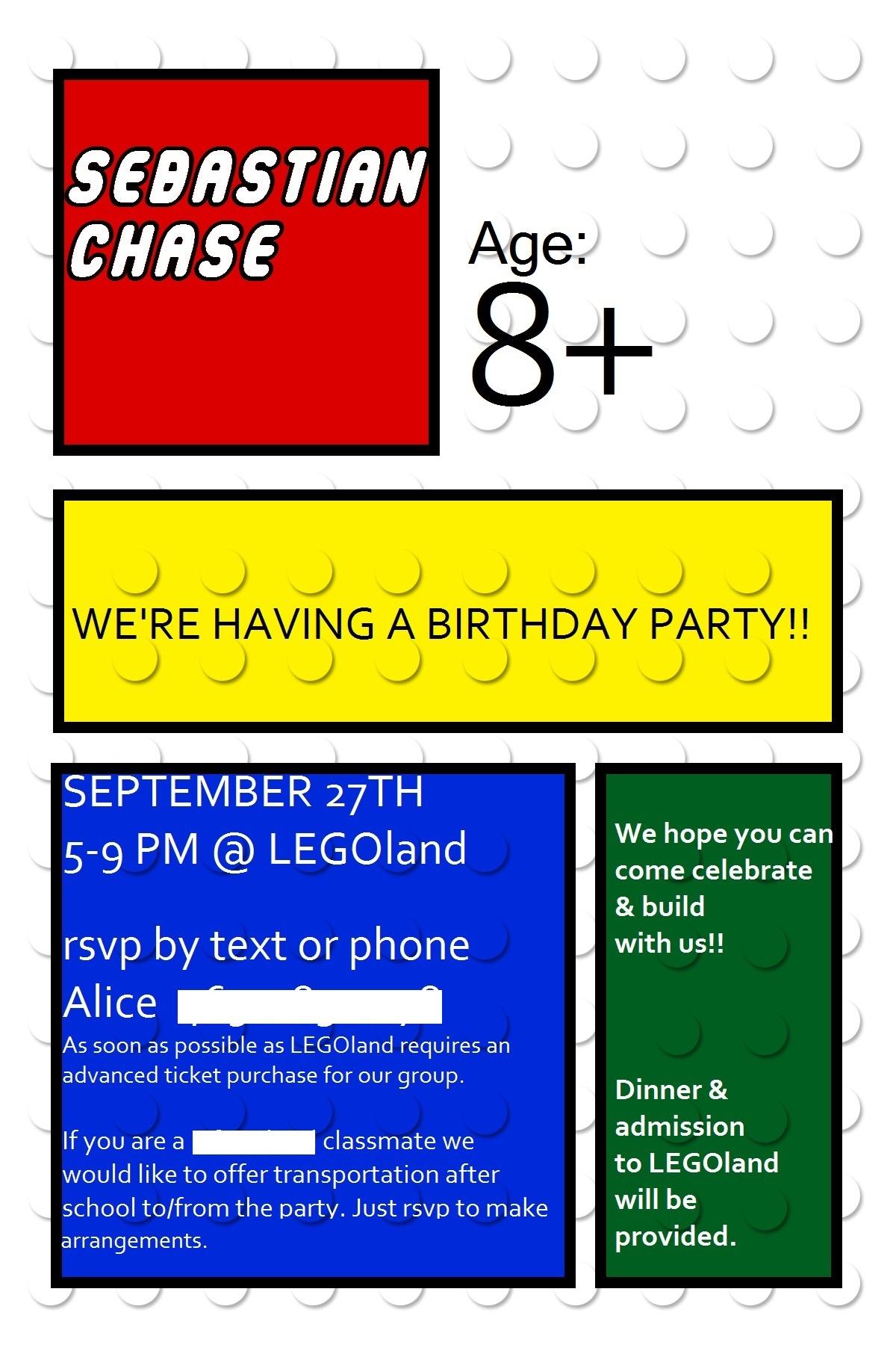 Lego Birthday Week- Lego Invitations - Lego Party Invitations Printable Free