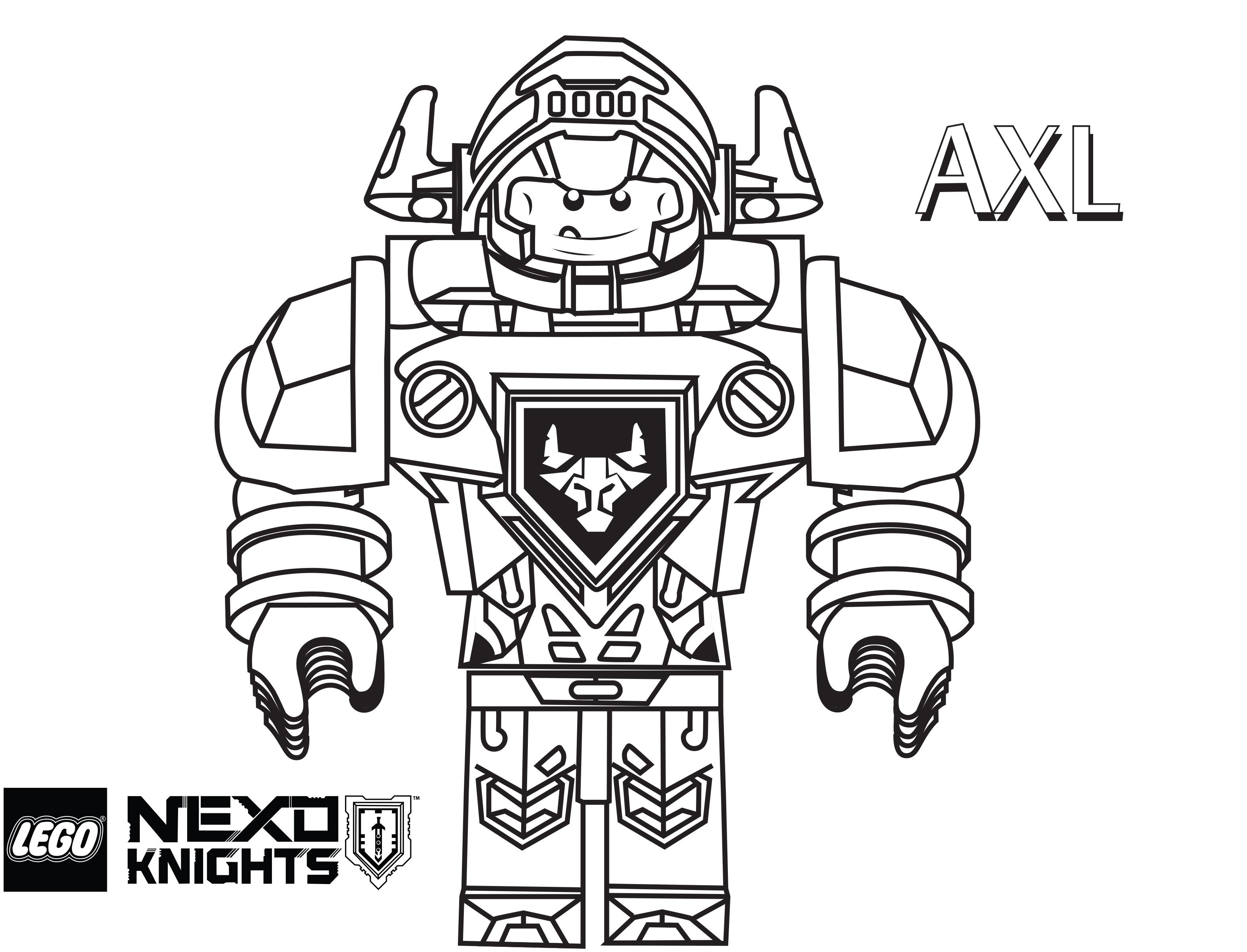 Lego Knights Coloring Pages. Lego Nexo Knights Coloring Pages Free - Free Printable Pictures Of Knights