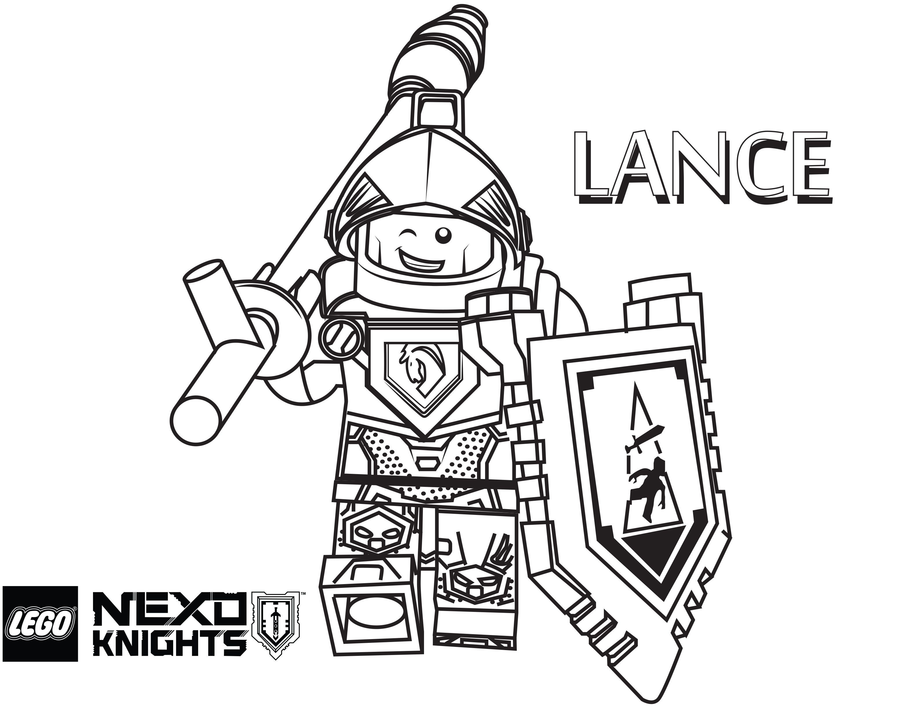 Lego Nexo Knights Coloring Pages : Free Printable Lego Nexo Knights - Free Printable Pictures Of Knights