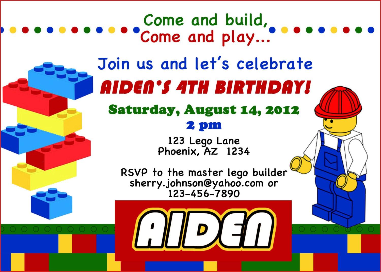 Lego Themed Birthday Party Invitations Dolanpedia Lego Birthday Card - Lego Party Invitations Printable Free