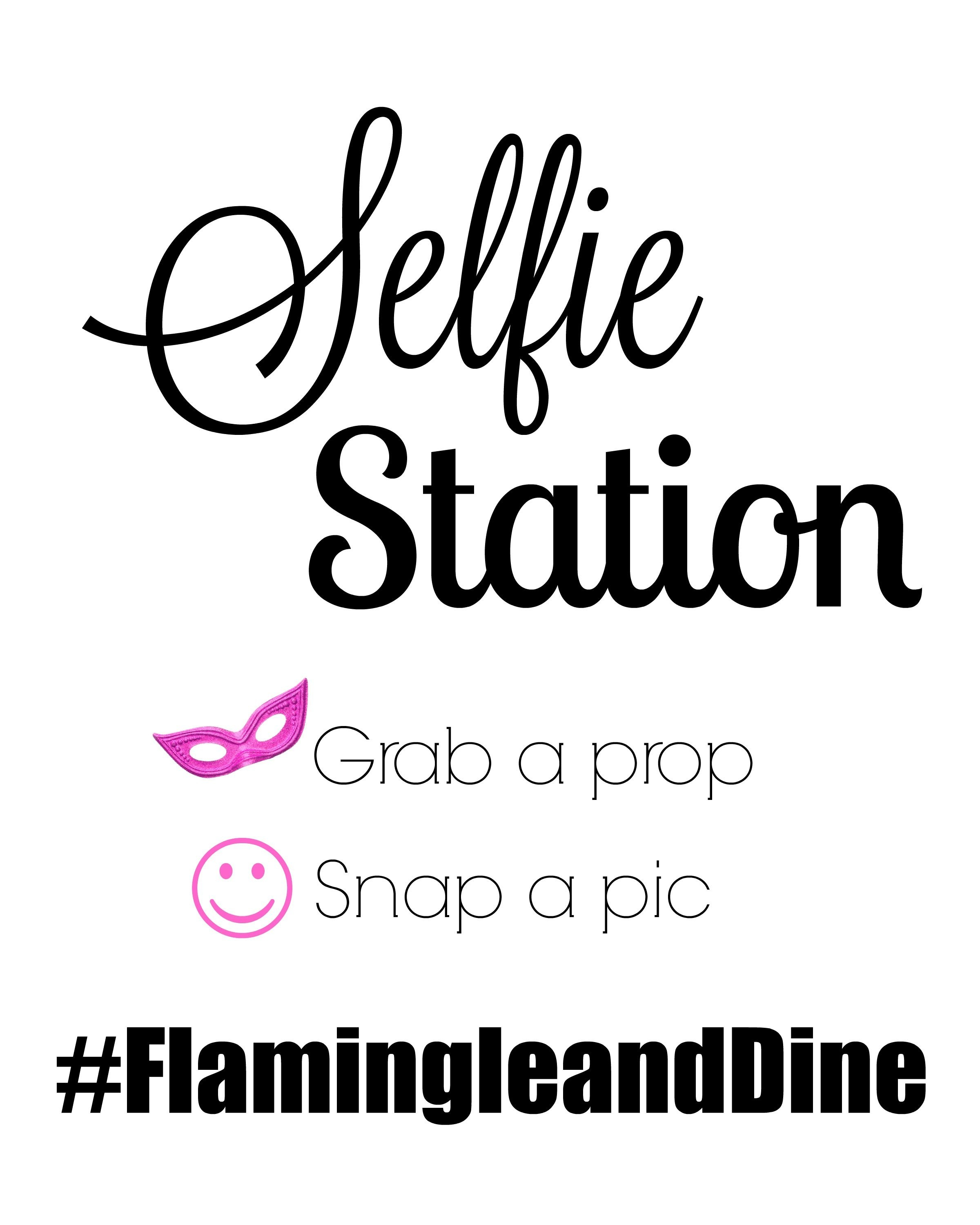 Let's Flamingle Flamingo Party Free Printable Photo Booth Props - Selfie Station Free Printable