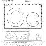 Letter C Coloring Worksheet   Free Kindergarten English Worksheet   Free Printable Letter C Worksheets