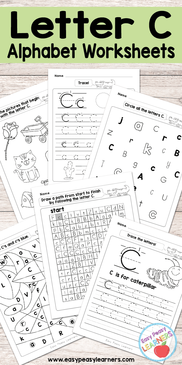 Letter C Worksheets - Alphabet Series - Easy Peasy Learners - Free Printable Preschool Worksheets Letter C