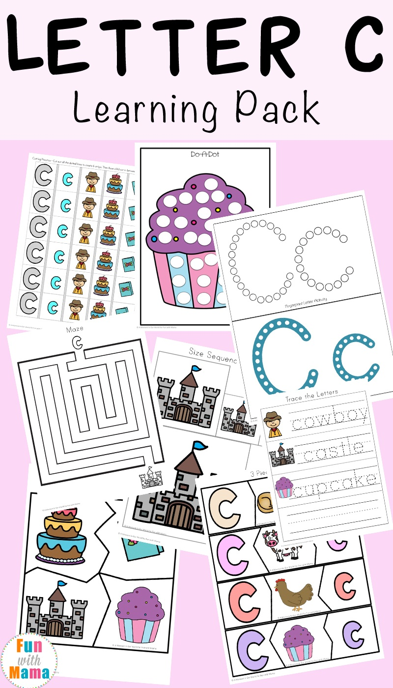 Letter C Worksheets And Printables Pack - Fun With Mama - Free Printable Preschool Worksheets Letter C
