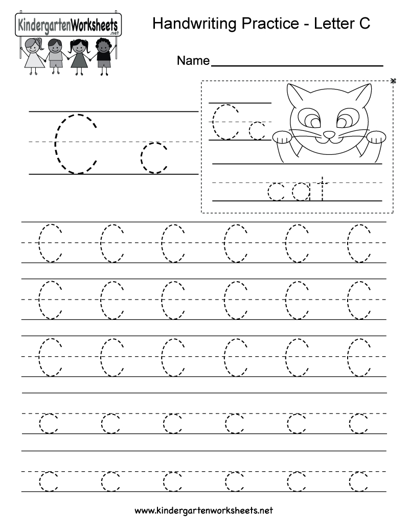 Letter C Writing Practice Worksheet - Free Kindergarten English - Free Printable Preschool Worksheets Letter C