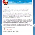 Letter From Santa Templates Free | Printable Santa Letters   Free Printable Christmas Letters From Santa