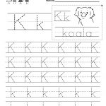 Letter K Writing Practice Worksheet. This Series Of Handwriting – Free Printable Writing Worksheets