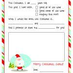 Letter To Santa – Free Printable | Christmas Ideas | Santa Template   Free Printable Christmas Letters From Santa