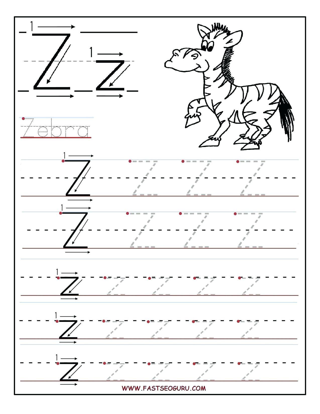 Letter Z Preschool Pinon Decor Tracing Worksheets Printable - Letter Z Worksheets Free Printable