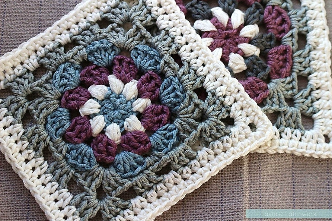 "Lily Pad"" Granny Square - Free Crochet Pattern & Tutorial - Pasta - Free Printable Crochet Granny Square Patterns"