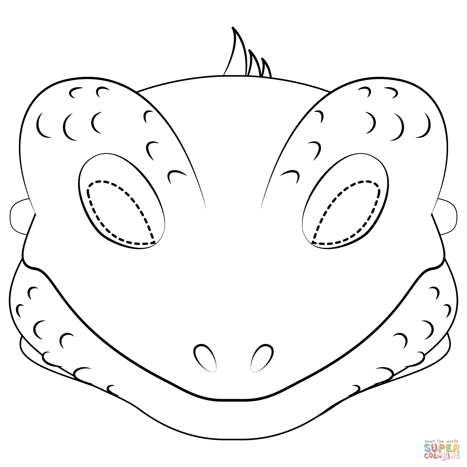 Lizard Mask Coloring Page | Free Printable Coloring Pages - Free Printable Lizard Mask