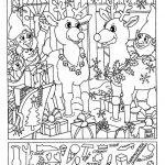 Liz's Hidden Pictures- Reindeer | Christmas | Hidden Pictures - Free Printable Christmas Hidden Picture Games