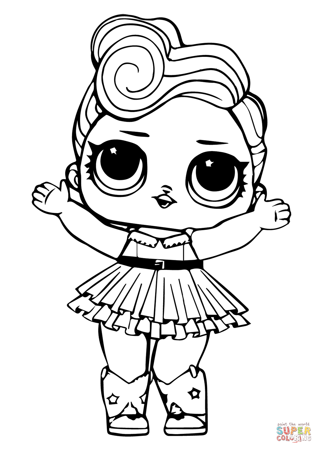 Lol Doll Luxe Coloring Page | Free Printable Coloring Pages | Lol - Www Free Printable Coloring Pages