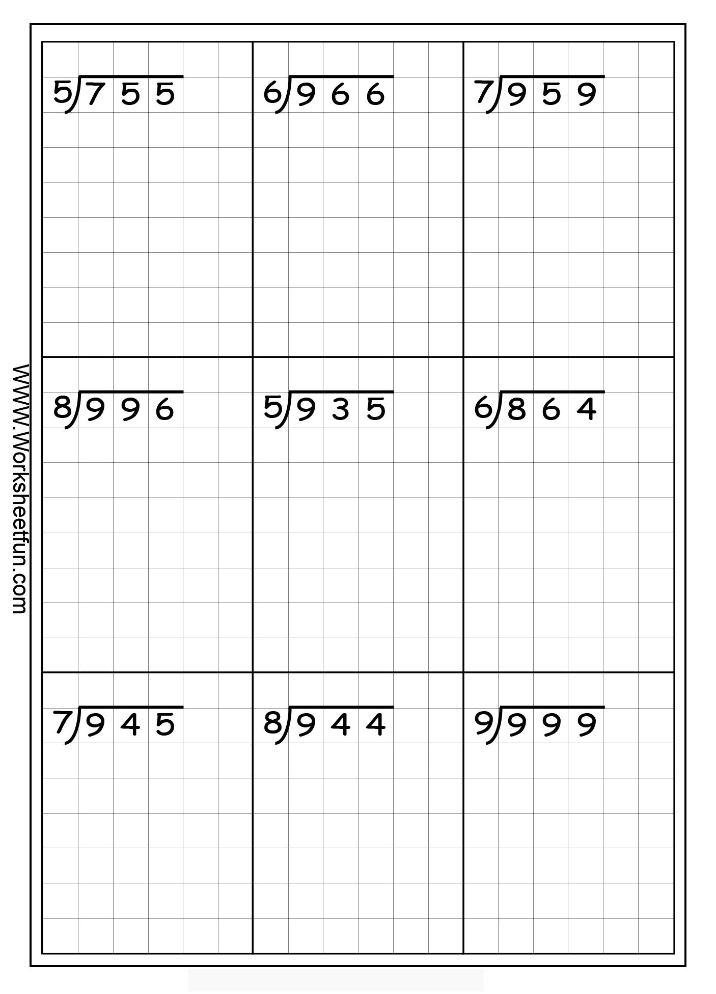 Long Division Free Worksheets | Eva School | Math Division, Long - Free Printable Division Worksheets For 5Th Grade