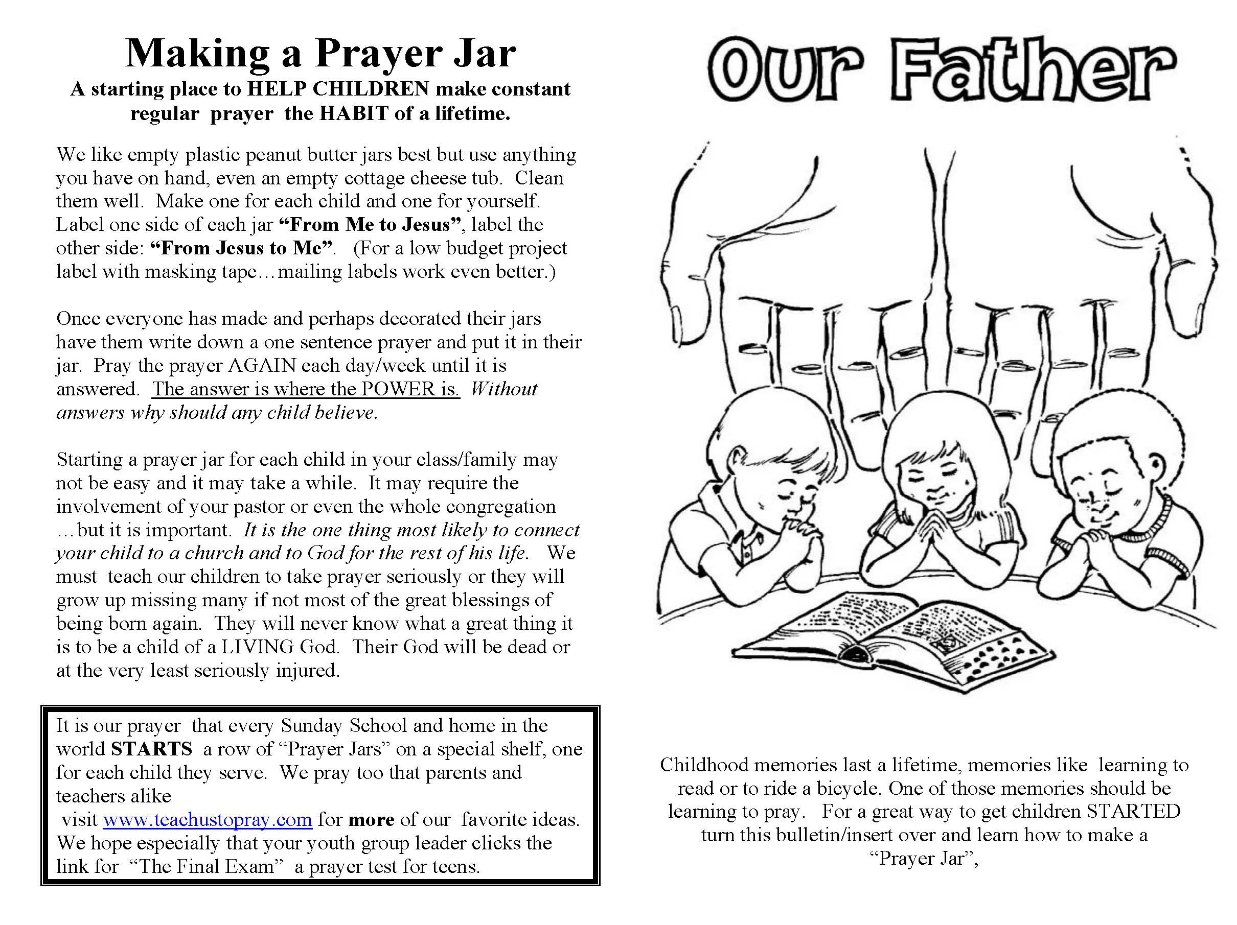 Lord's Prayer For Children, Free Prayer Coloring And Prayer Crafts - Free Printable Lord's Prayer Coloring Pages