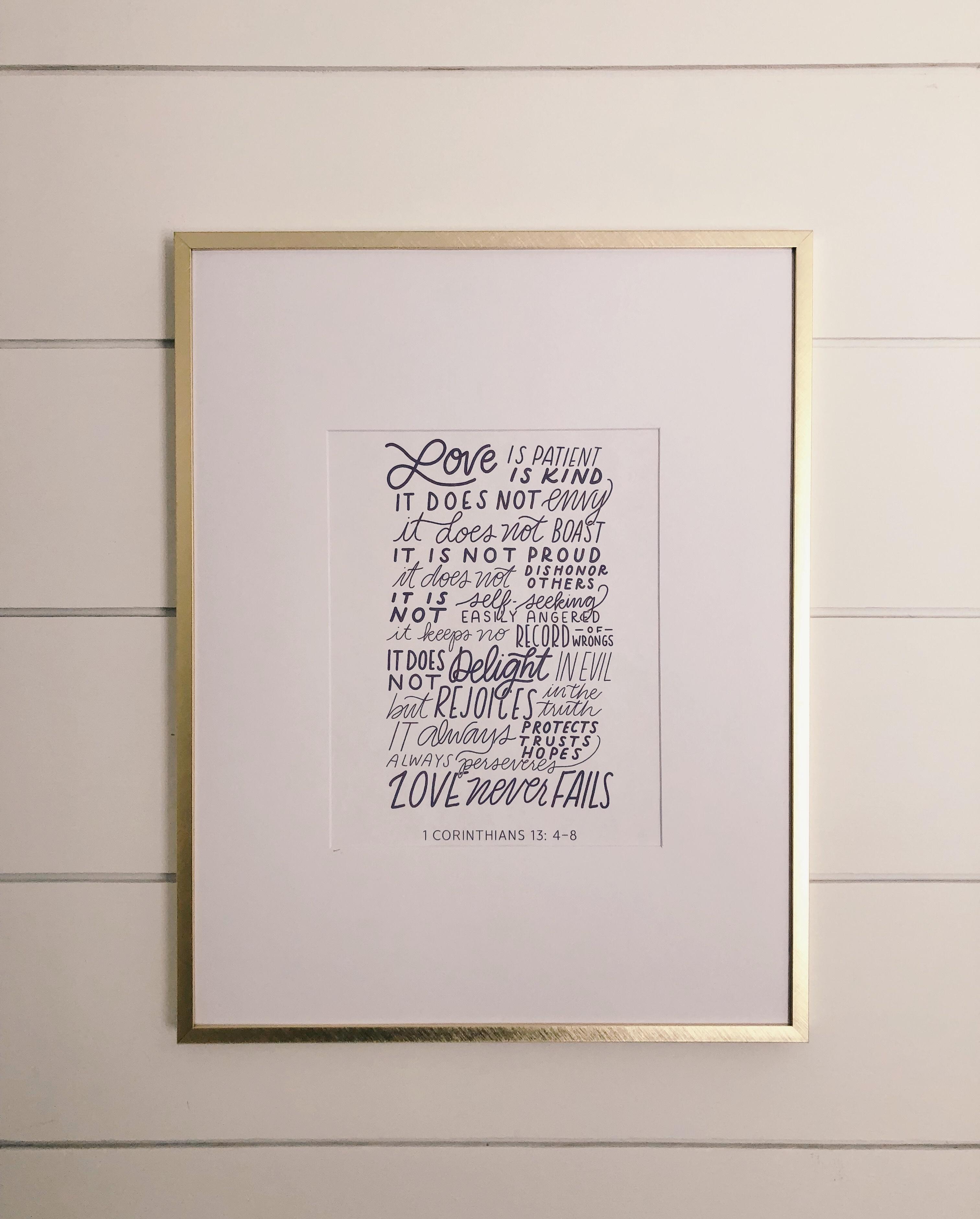 Love Is Patient, Love Is Kind   Free Printable   Harbor + Pine - Love Is Patient Love Is Kind Free Printable