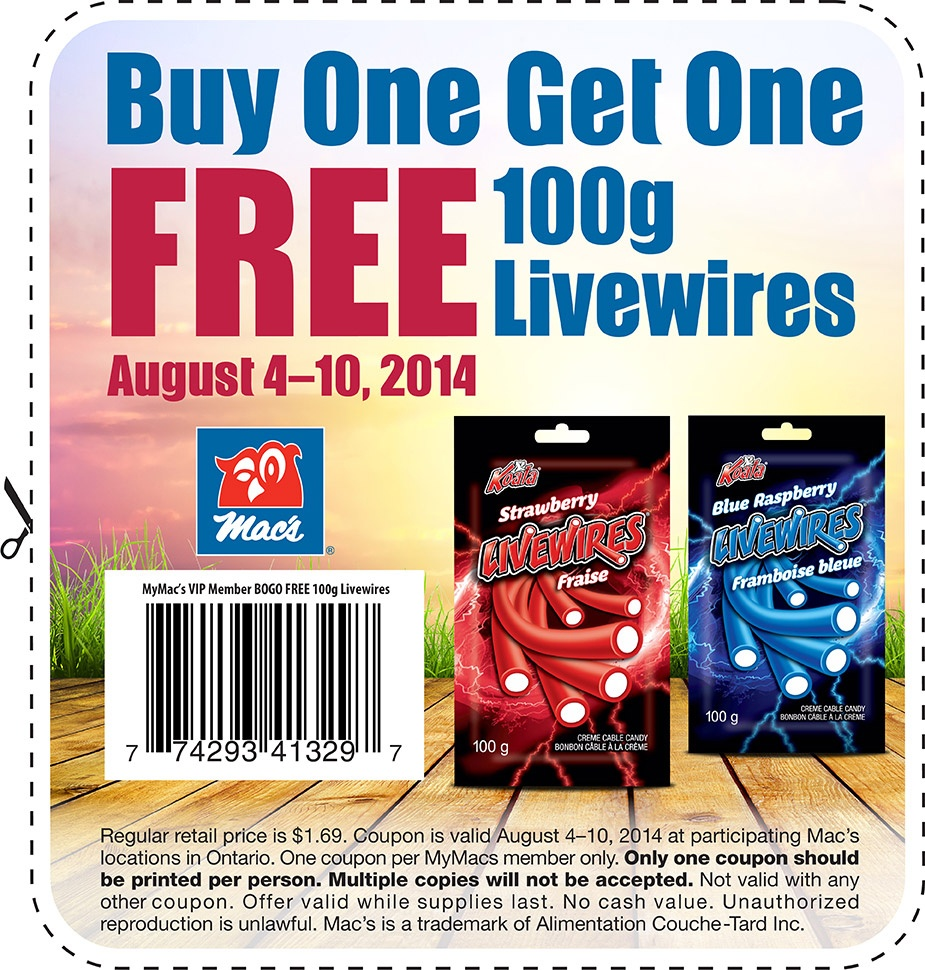 Mac's Store Ontario Canada Printable Coupon: Buy One Get One Free - Free Printable Coupons Ontario