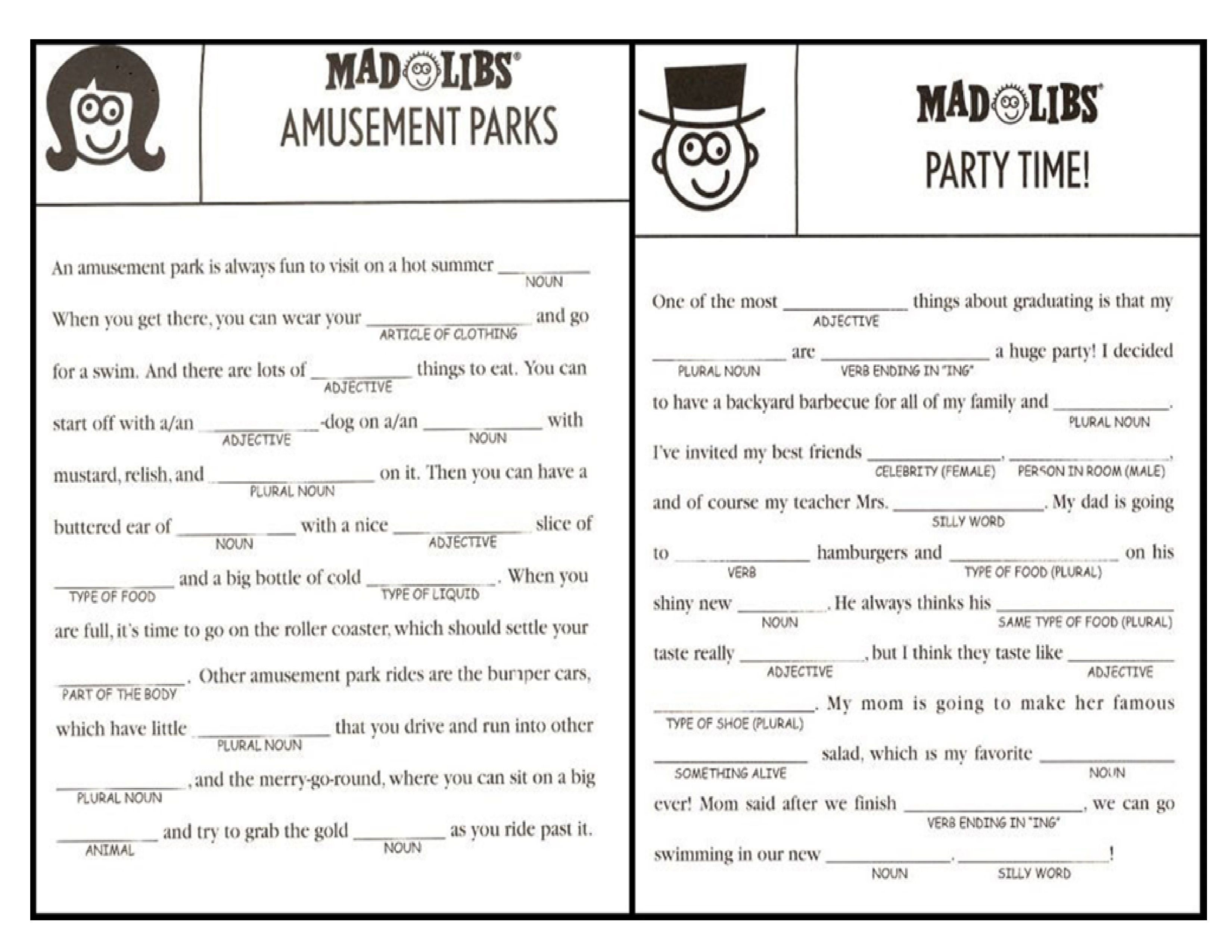 Mad Libs For Adults - Google Search | Feedback Loops | Mad Libs For - Mad Libs Online Printable Free