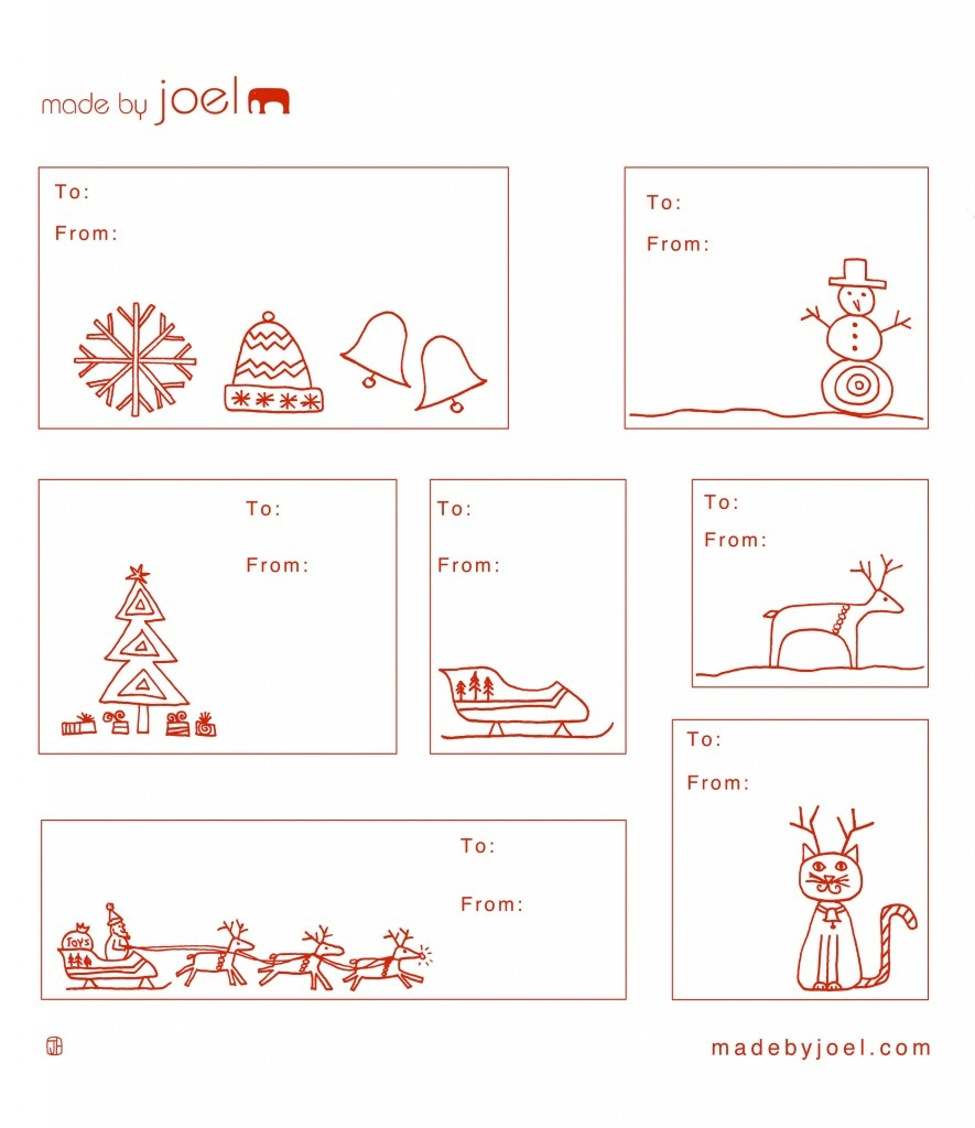 Madejoel » Holiday Gift Tag Templates - Free Printable Blank Gift Tags