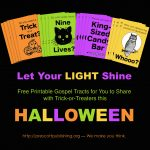 Mailbag: Free Printable Trick Or Treat Tracts   Flanders Family Homelife   Free Printable Gospel Tracts For Children