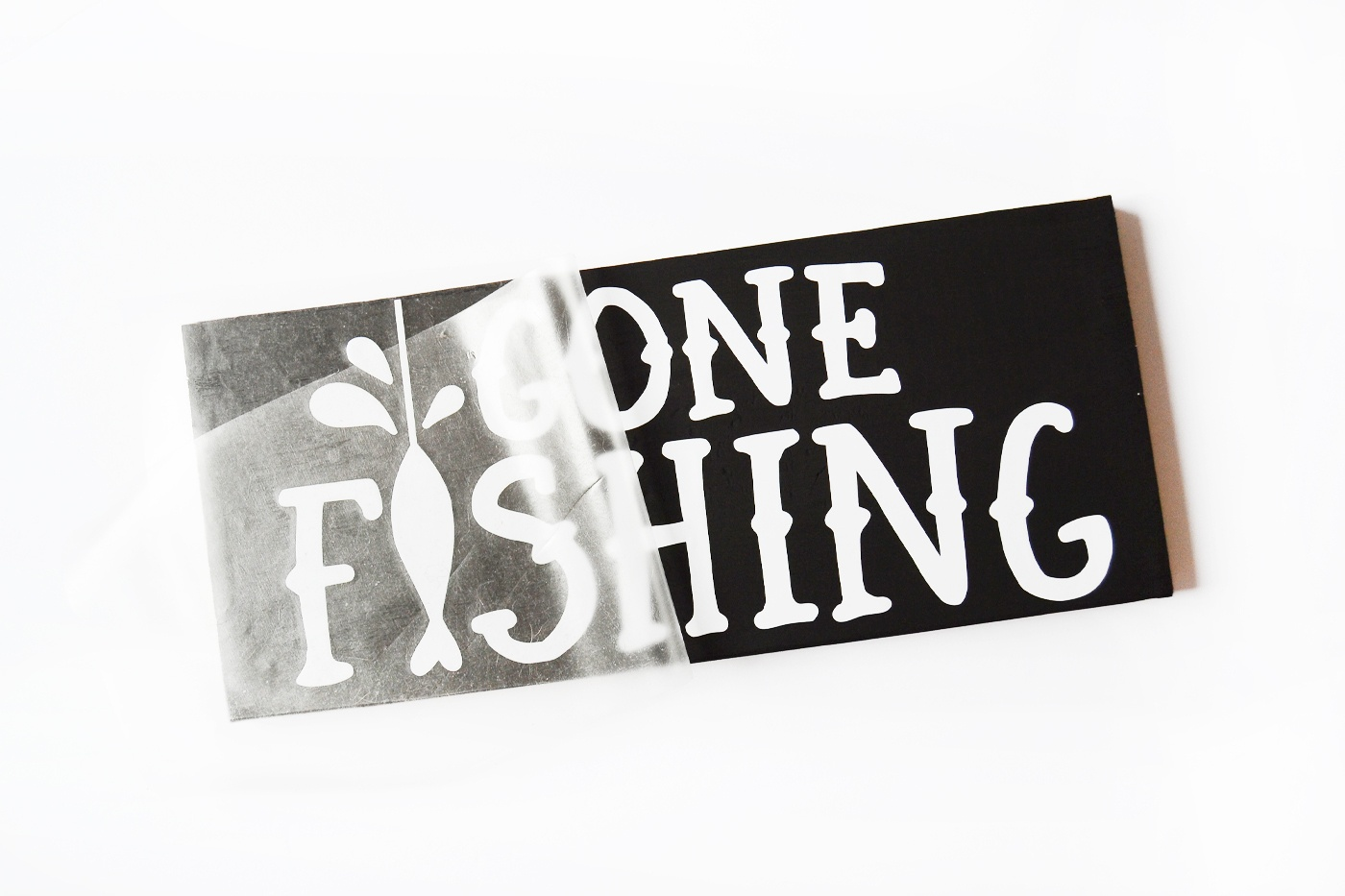 Make A Gone Fishing Wood Sign For Dad - Diy Candy - Free Printable Gone Fishing Sign