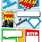 Make Your Own Comic Book Printable | Superhero Comic Book Party   Free Printable Superman Invitations