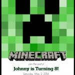 Make Your Own Custom Printable Minecraft Party Invitations   Printable Invitations Free No Download