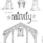 Manger Scene Coloring Page Free Pages Download Xsibe Within | Yard   Free Printable Nativity Story Coloring Pages