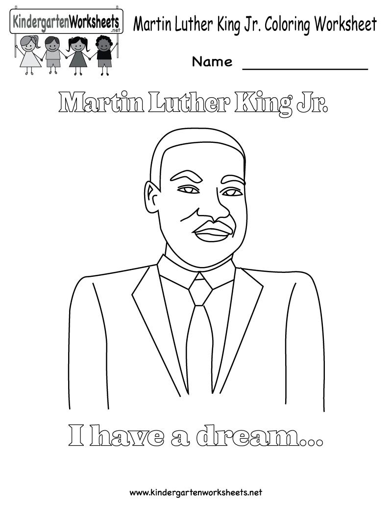 Martin Luther King Jr Coloring Pages | Martin Luther King Coloring - Free Printable Martin Luther King Jr Worksheets