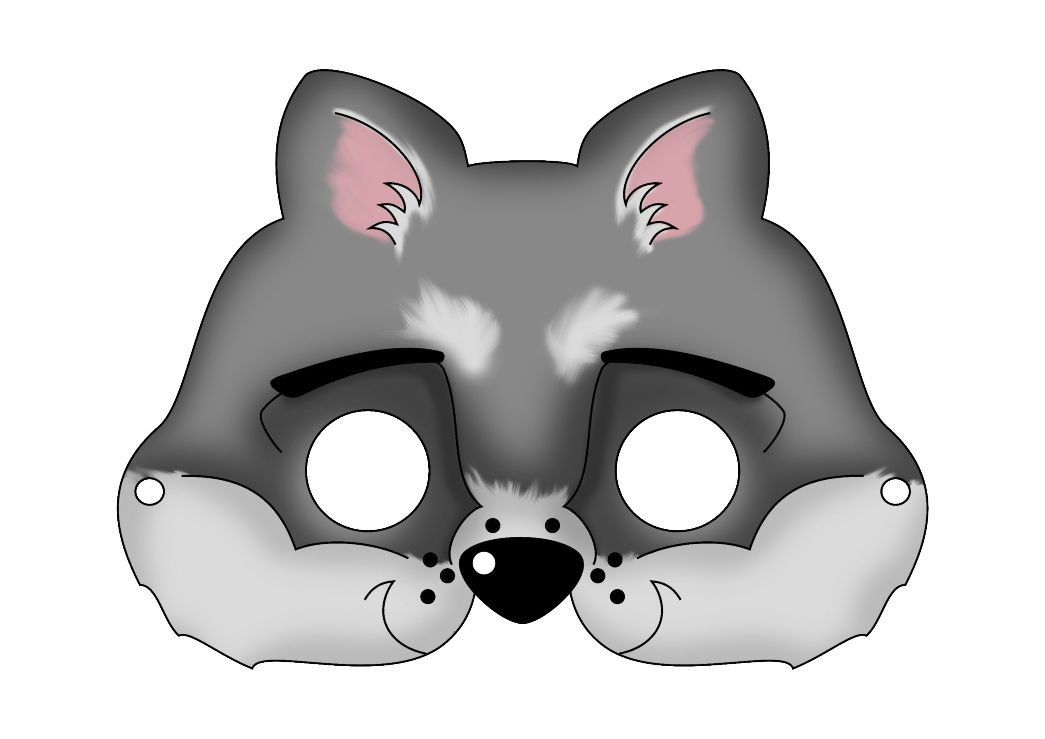 Masks | Carnival Masks Or Just Plain Fun On A Cold Winter Day | Hide - Free Printable Wolf Mask
