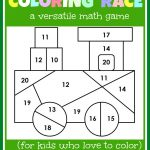 Math Game For Kids: Coloring Race Combines Math And Coloring   The   Free Printable Maths Games