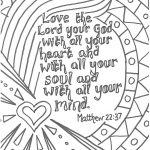 Matt 22:37 Love The Lord Your God With All Your Heart Printable   Free Printable Lord's Prayer Coloring Pages