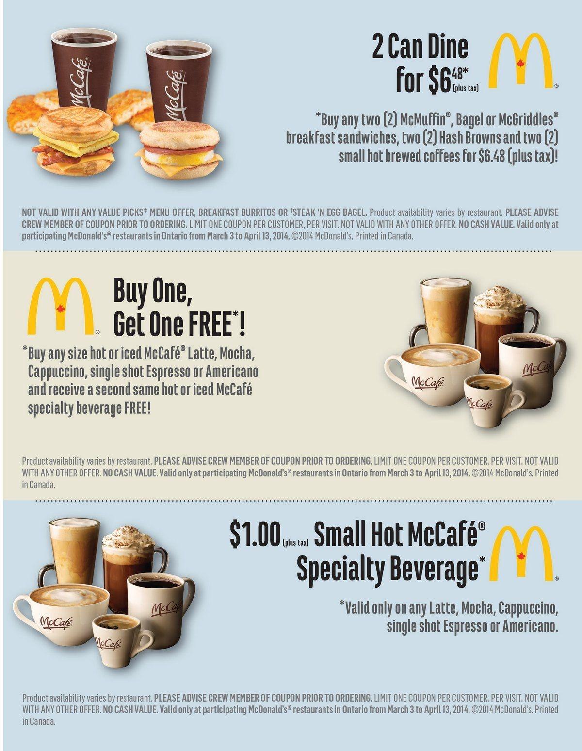 Mcdonald's Coupons March 3 - April 13 2014 Toronto | Disney - Free Mcdonalds Smoothie Printable Coupon