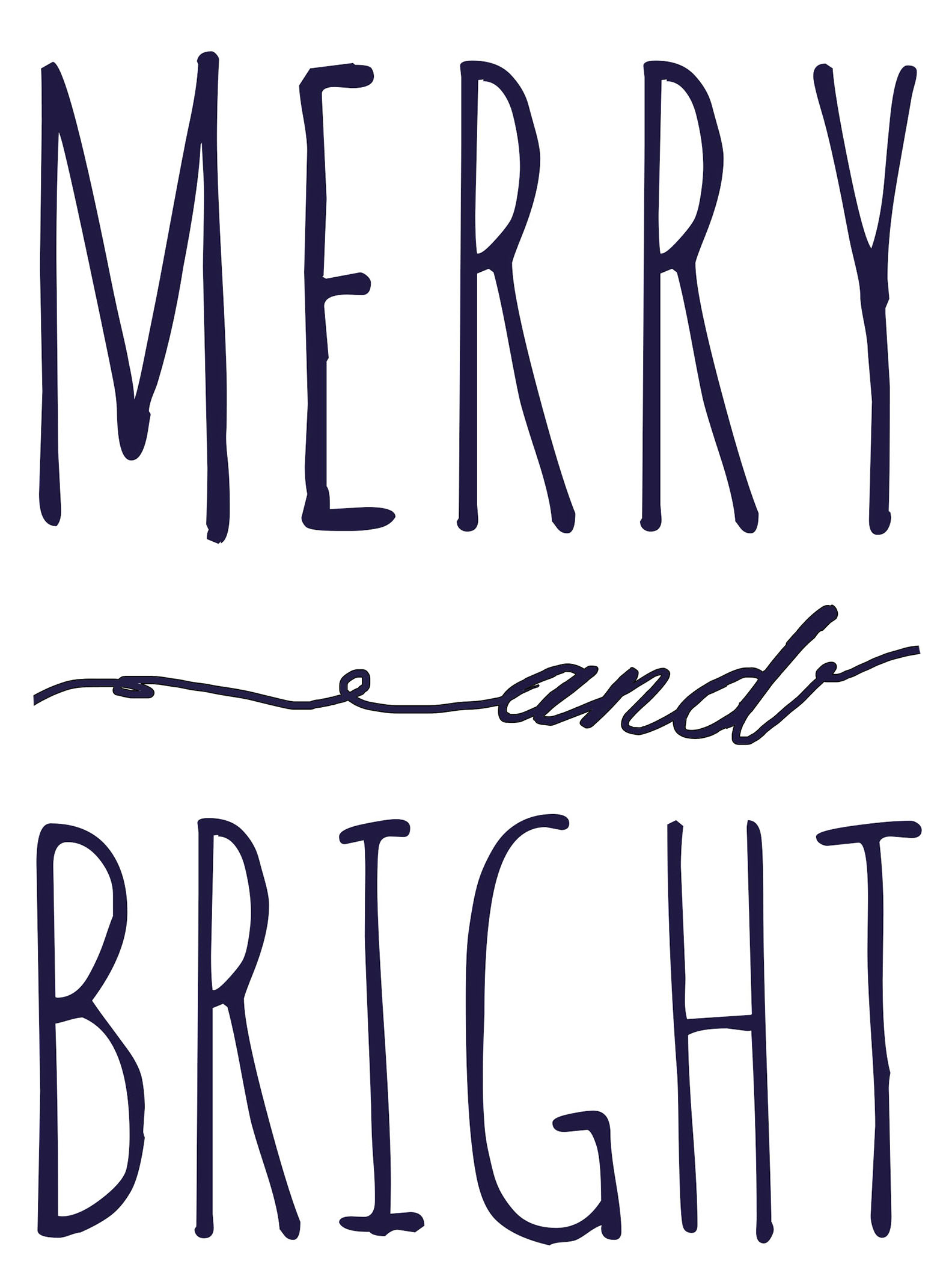 Merry And Bright Free Printable Template | Fantastically Free Fonts - Free Printable Sign Templates