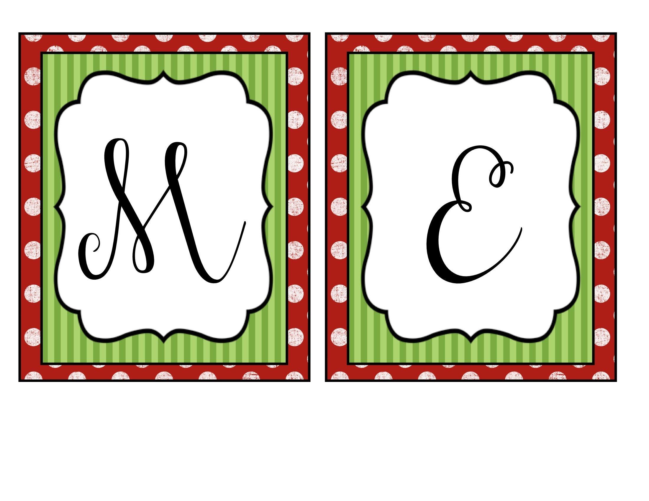 Merry Christmas Banner | Holidays | Christmas Banners, Merry - Free Printable Christmas Letters