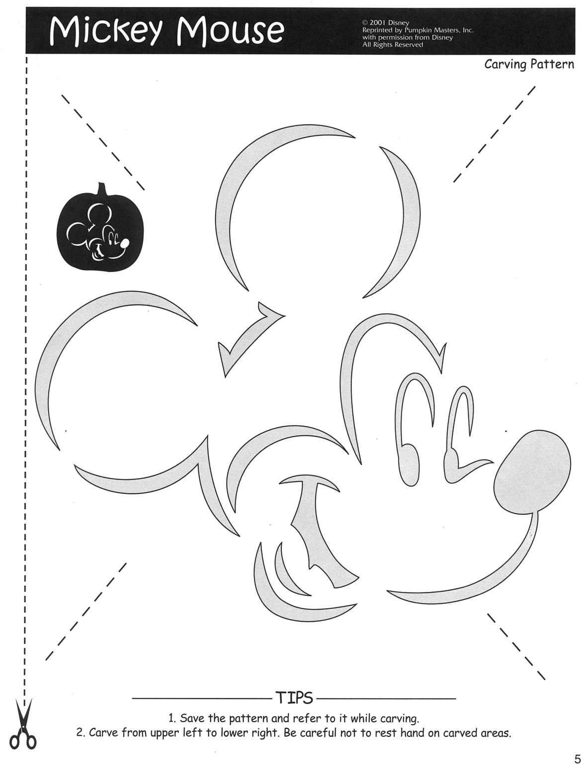 Mickey Mouse Pumpkin Stencil | Mickey Mouse Pumpkin Carving Patterns - Pumpkin Patterns Free Printable