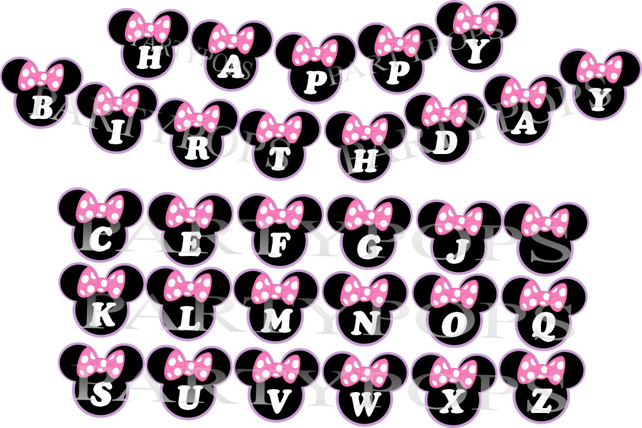 Minnie Mouse Bow | Free Download Best Minnie Mouse Bow On Clipartmag - Free Printable Minnie Mouse Birthday Banner