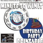 Minute To Win It With Free Printable   Free Printable Minute To Win It Invitations