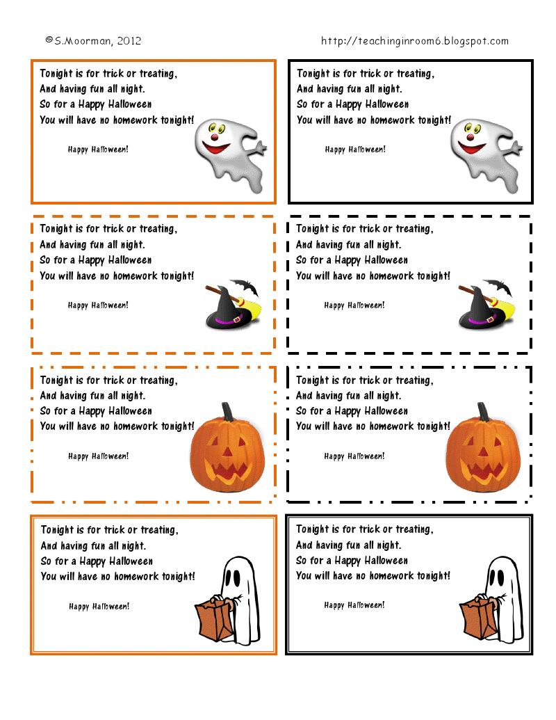 Miss Kindergarten: Halloween Safety Book | Halloween | Miss - Free Printable Halloween Homework Pass