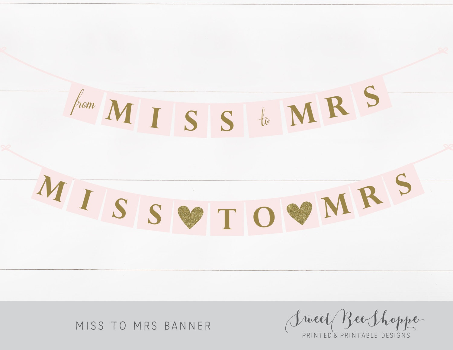 Miss To Mrs Banner Instant Download Printable Party Banner | Etsy - Free Printable Miss To Mrs Banner
