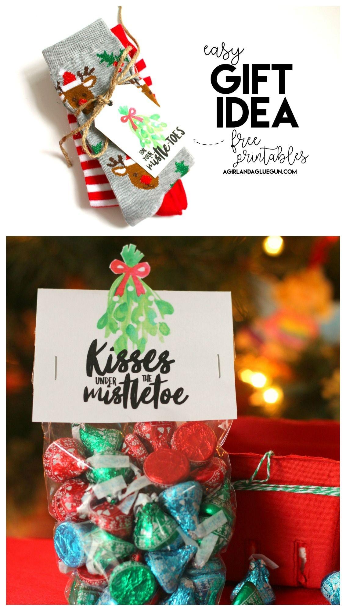 Mistletoe Gift Ideas-Free Printables | Christmas Ideas & Recipes - Free Printable Mistletoe Tags