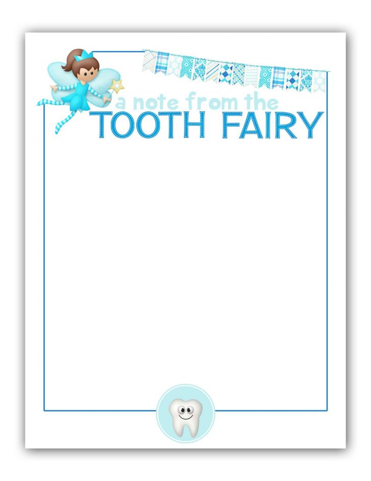Tooth Fairy Stationery Free Printable