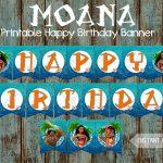 Moana Banner Moana Happy Birthday Banner Moana Printable | Etsy   Free Printable Moana Banner