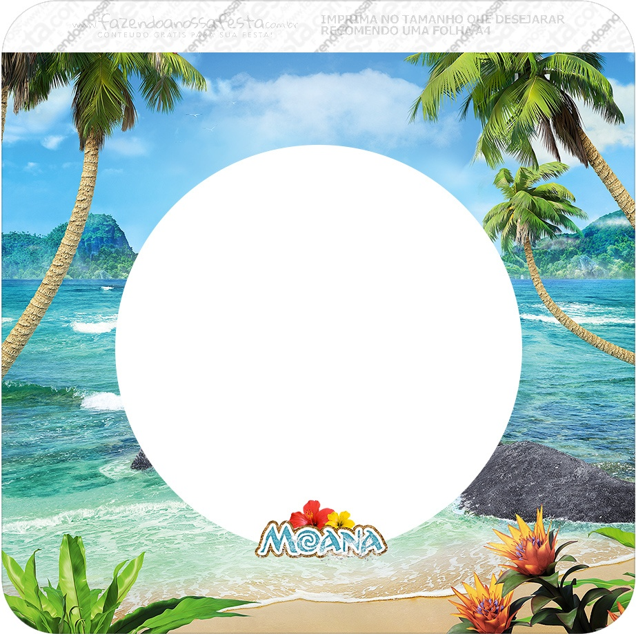 Moana: Free Party Printables. - Oh My Fiesta! In English - Free Printable Moana Banner